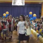 video of 8th graders leaving