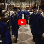 screen shot of 2021 commencement video